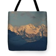 Pretty Countyside In Italy With Huge Mountains  Tote Bag