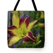 Pretty Flowering Lily In A Garden  Tote Bag