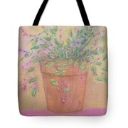 Pretty Flowers In Pink Tote Bag
