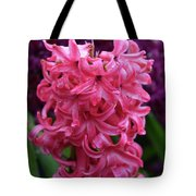 Pretty Hot Pink Hyacinth Flower Blossom Blooming Tote Bag