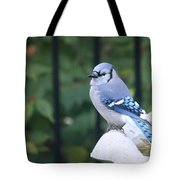 Pretty In Blue Jay Tote Bag