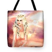 Pretty In Peach Galaxies Tote Bag