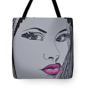 Pretty In Pink Lips Tote Bag