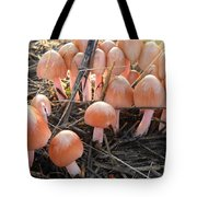 Pretty In Pink Mushrooms Tote Bag