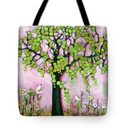 Pretty In Pink Paradise Tree Tote Bag