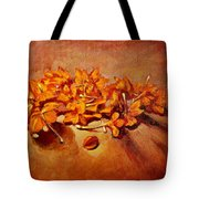 Pretty Little Orange Flowers - Kankaambaram Tote Bag