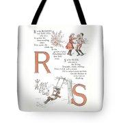 Pretty Name Abc R And S Tote Bag