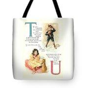 Pretty Name Abc T And U Tote Bag