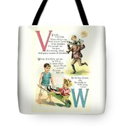 Pretty Name Abc V And W Tote Bag