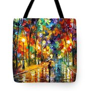 Pretty Night - Palette Knife Oil Painting On Canvas By Leonid Afremov Tote Bag