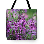 Pretty Pink And Purple Flowers Tote Bag