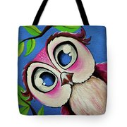 Pretty Pinky Owl Tote Bag