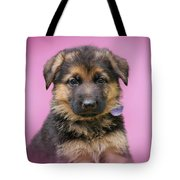 Pretty Puppy In Pink Tote Bag