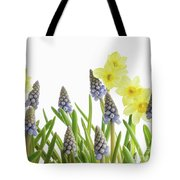 Pretty Spring Flowers All In A Row Tote Bag