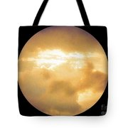 Pretty Storm Clouds With Sun Shine Tote Bag