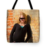 Pretty Teen In Jeans Tote Bag