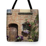 Pretty Terrace Beside The Groenerei Canal In Bruges Belgium Tote Bag