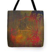 Pretty Violence On A Screen Door Tote Bag by Eric Dee