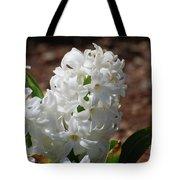 Pretty White Hyacinth Flower Blossom Flowering Tote Bag