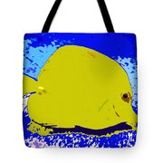 Pretty Yellow Fish Tote Bag