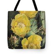 Prickle Pear Cactus Flower Trio Tote Bag