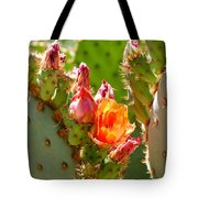 Prickly Pear Blooms Tote Bag