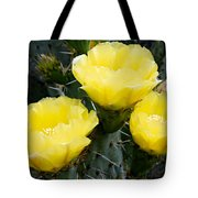 Prickly Pear Cactus Blossoms Tote Bag