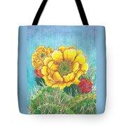 Prickly Pear Cactus Flowering Tote Bag