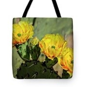 Prickly Pear Flowers H42 Tote Bag