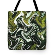Prickly Pear With Green Fruit Abstract Tote Bag