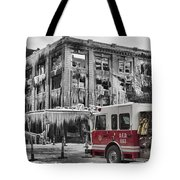 Pride, Commitment, And Service -after The Fire Tote Bag by Jeff Swanson