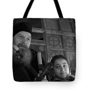 Priest And A Young Girl  Tote Bag