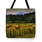 Priest Lake Hay Bales II Tote Bag