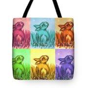 Primary Bunnies Tote Bag
