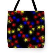 Primary Bursts Under Glass Tote Bag