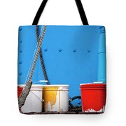 Primary Colors - Paint Buckets On A Ship Tote Bag