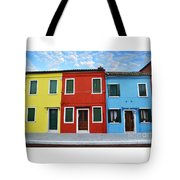Primary Colors Too Burano Italy Tote Bag
