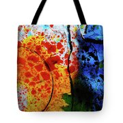 Primary Crystal Abstract Tote Bag