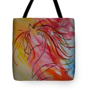 Primary Horse Tote Bag