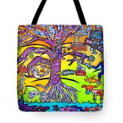 Primates Betraying Their Forest Tote Bag