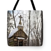 Primitive Church In The Mountains Tote Bag