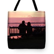 Evening Hill Sunset Tote Bag