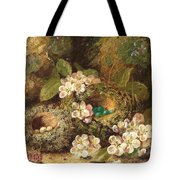 Primroses And Bird's Nests On A Mossy Bank Tote Bag