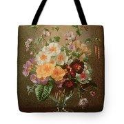 Primulas In A Glass Vase  Tote Bag