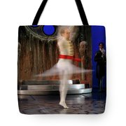 Prince Charming In Blurred Spin While Dancing In Ballet Jorgen P Tote Bag