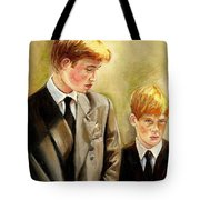 Prince William And Prince Harry Tote Bag