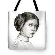 Princess Leia Watercolor Portrait Tote Bag