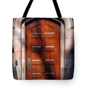Princeton University Wood Door  Tote Bag