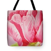 Prints Art For Sale Floral Oil Painting Pink Tote Bag