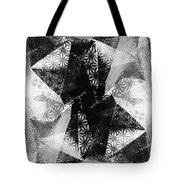 Prismatic Vision - Black And White Tote Bag